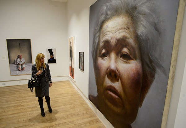 BP Portrait Awards from the National Portrait Gallery preview evening at Sunderland Museum & Winter Gardens.