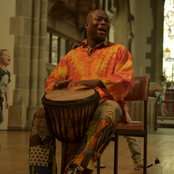 African drumming at the Sunderland Minster