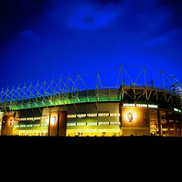 Stadium of Light lighting the sky