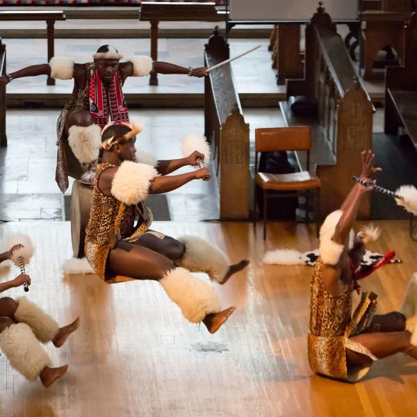 African dancers performing at Sunderland Minster